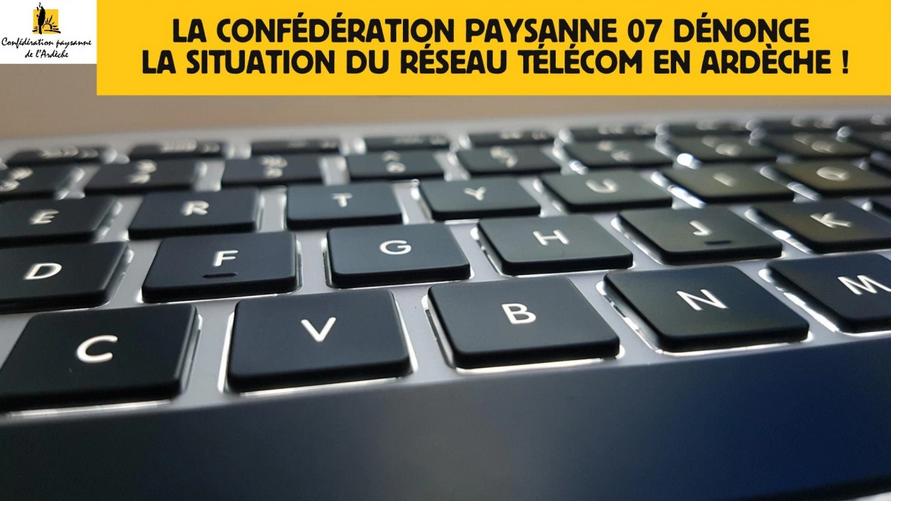 Situation des réseaux Telecom en Ardèche: la Conf'07 écrit au Conseil Départemental