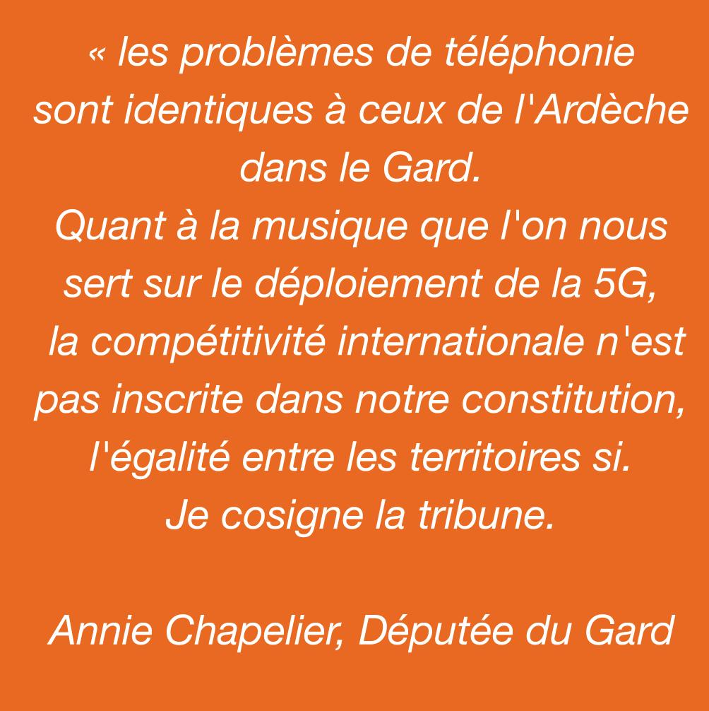 Soutien d'Annie Chapelier, Députée du Gard