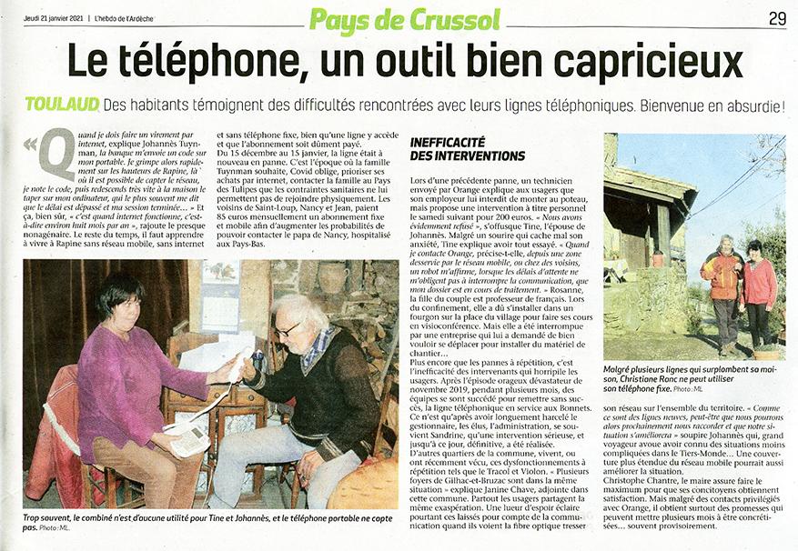 Toulaud 07 : Téléphone, bienvenue en Absurdie !