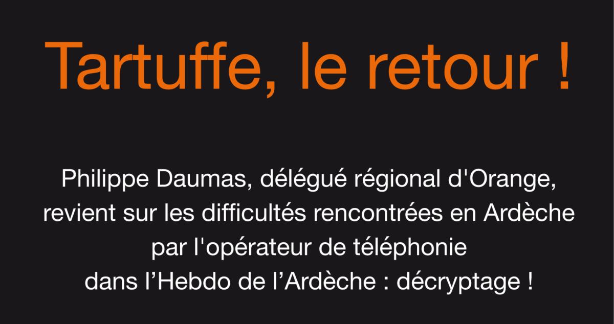 Les allégations d'Orange dans l'Hebdo de l'Ardèche : décryptage !