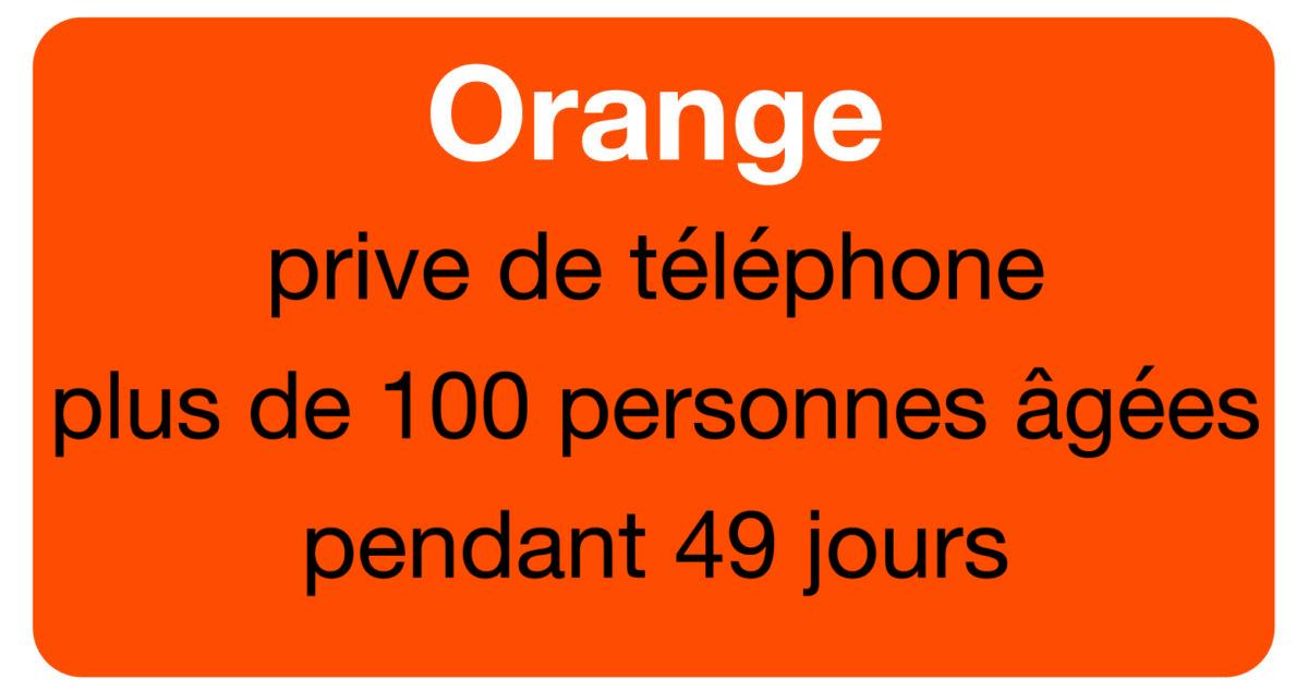 Villeurbanne : Orange prive de téléphone plus d'une centaine de personnes âgées pendant 49 jours